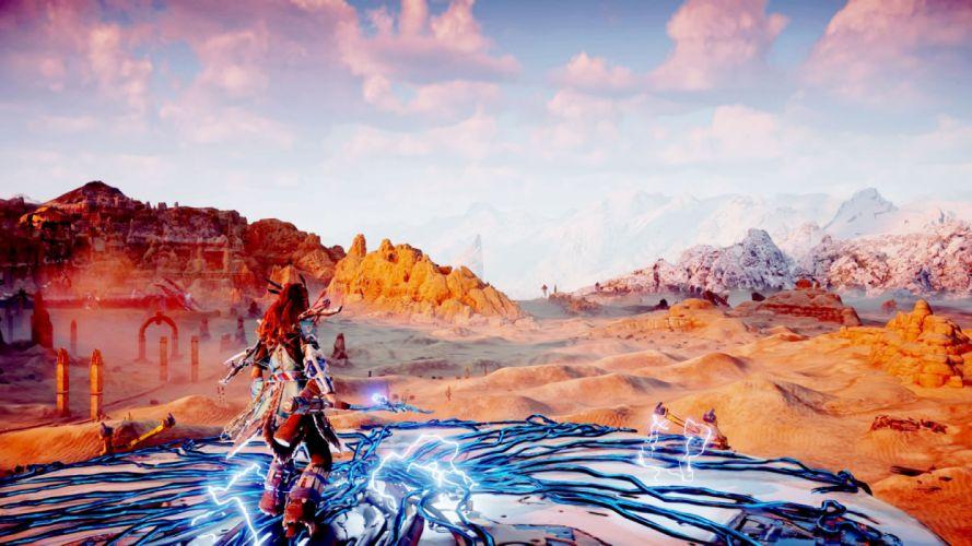 HORIZON ZERO DAWN 1hzd action fantasy futuristic horizon sci-fi warrior rpg wallpaper