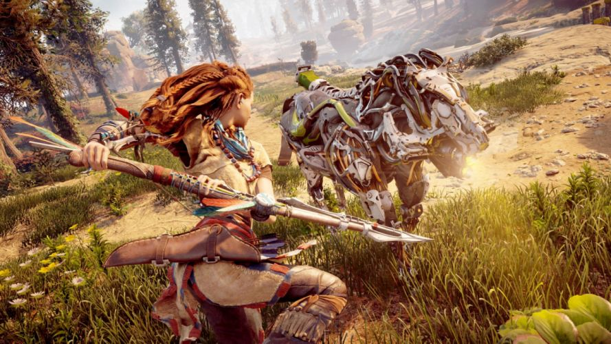 HORIZON ZERO DAWN 1hzd action fantasy futuristic horizon sci-fi warrior rpg wallpaper