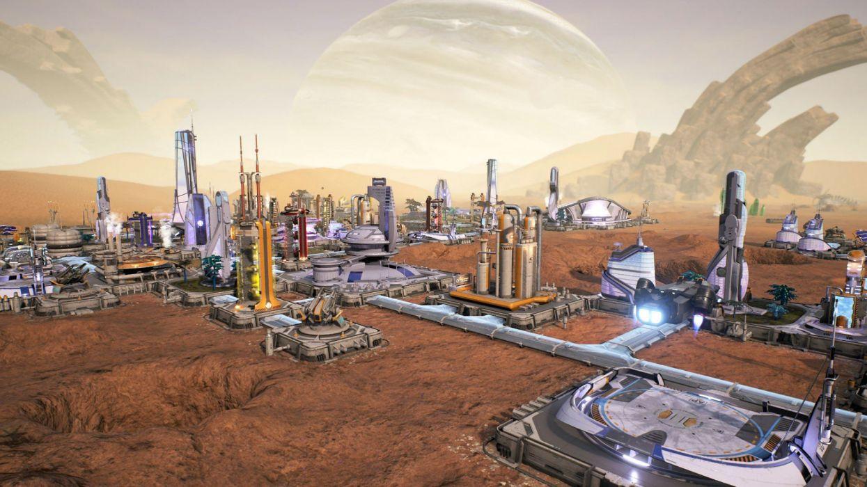 AVEN COLONY city building sci-fi futuristic detail technics strategy 1avon colony cities wallpaper