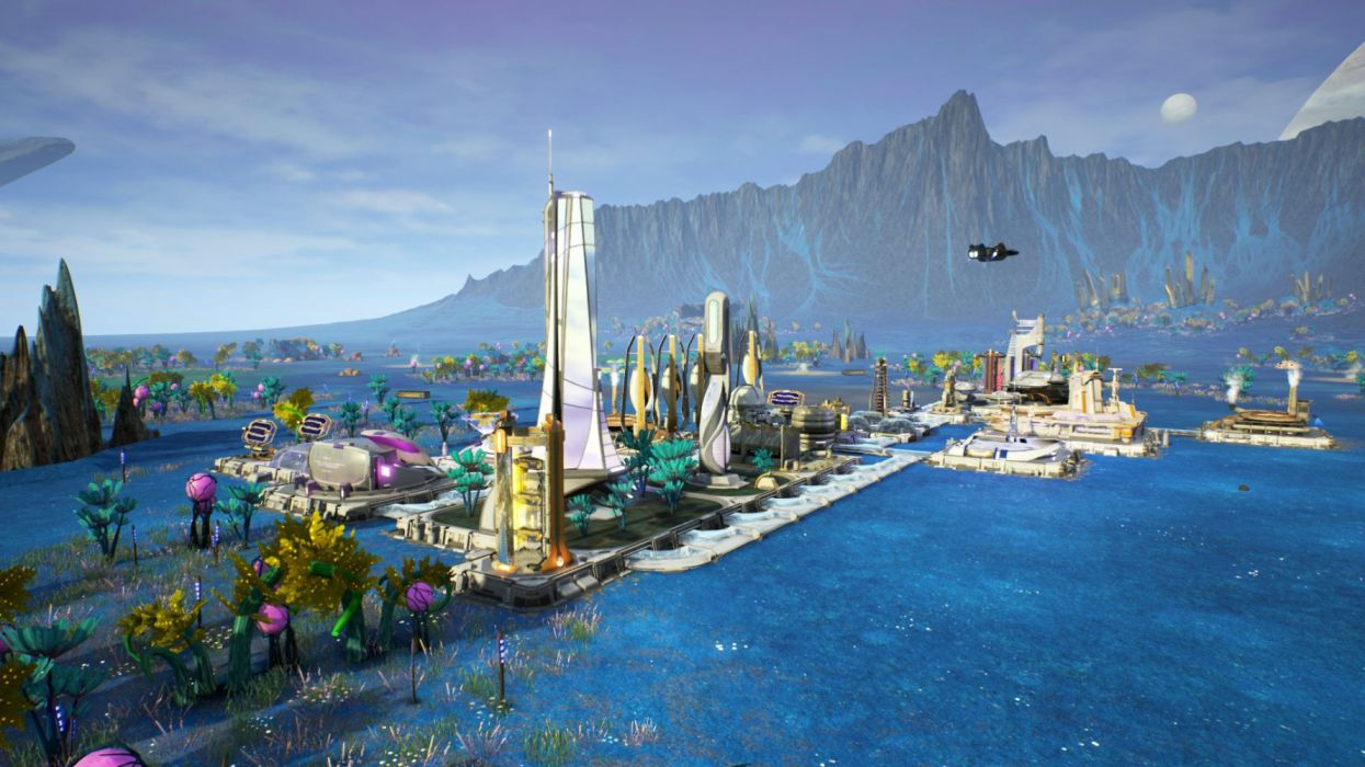 AVEN COLONY city building sci-fi futuristic detail technics strategy 1avon colony cities wallpaper