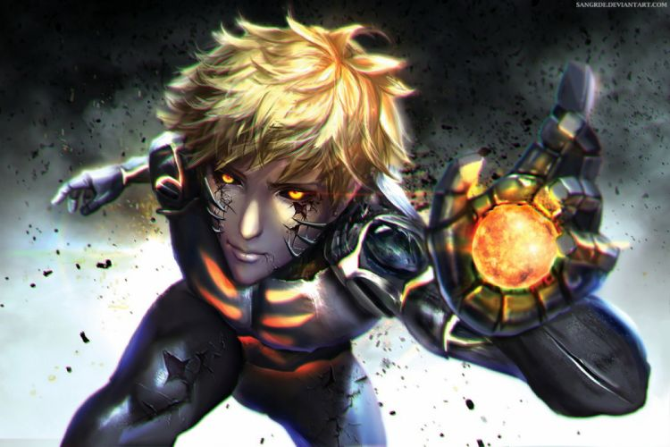 onepunchman anime character male blond wallpaper