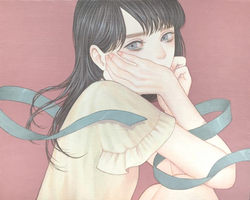 girls manga subjects blue eyes dress cute wallpaper