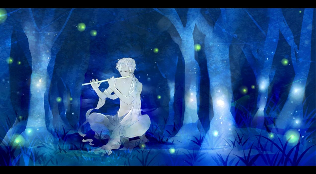 forest men music night objects nature drawings wallpaper