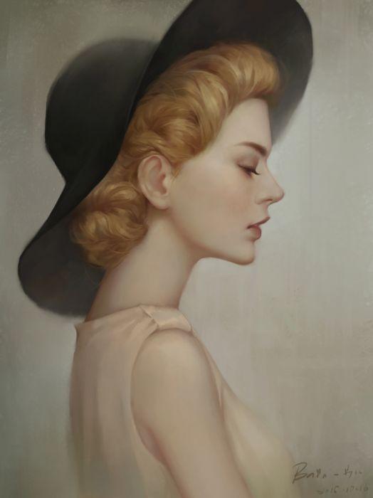 fantasy l beauty dress hair original beautiful blond hat wallpaper