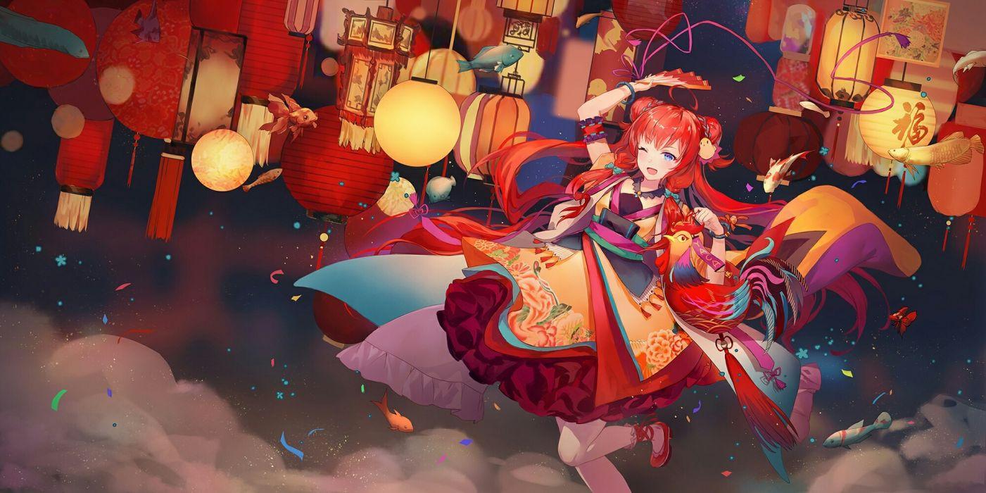 anime girl dress smile cute beauty wallpaper