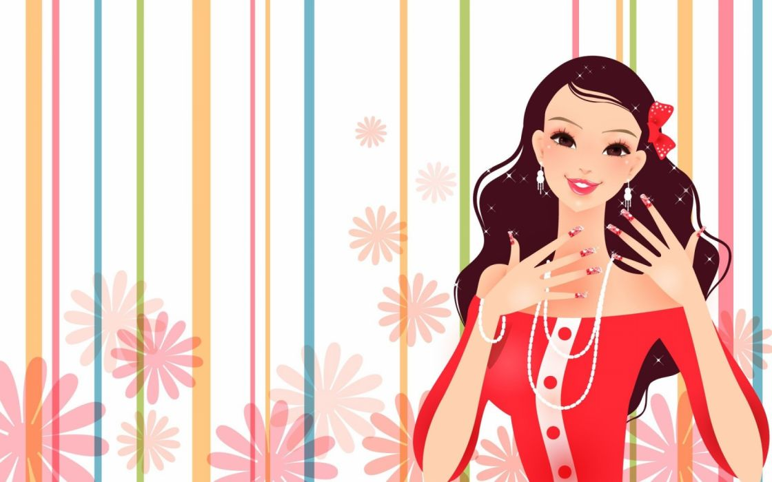 vector abstracto mujer morena fashion wallpaper
