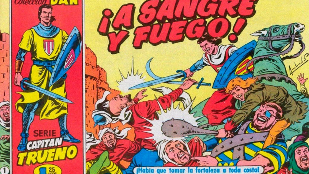 el capitan trueno antiguo comics espay wallpaper