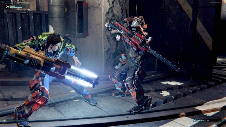SURGE action rpg sci-fi futuristic nanosuit armor fighting technics video game warrior exoskeleton 1surge wallpaper