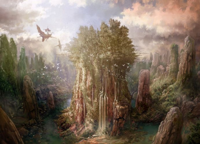 water games forest sky nature birds drawings technology fantasy wallpaper