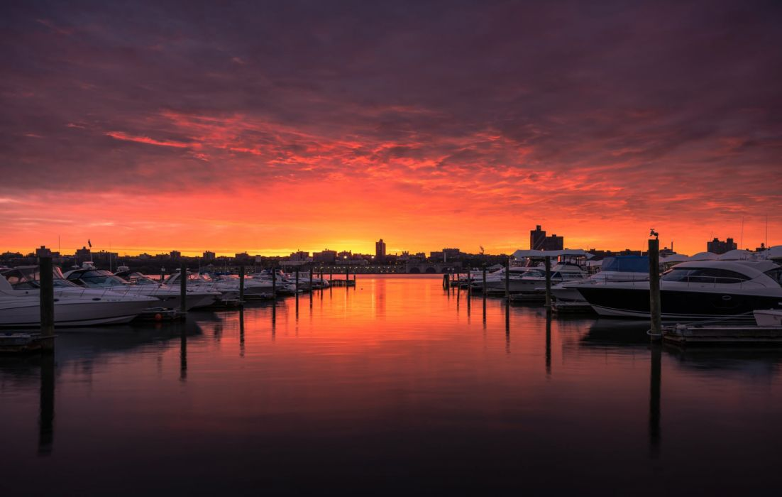 nature ship sunset sky clouds wallpaper