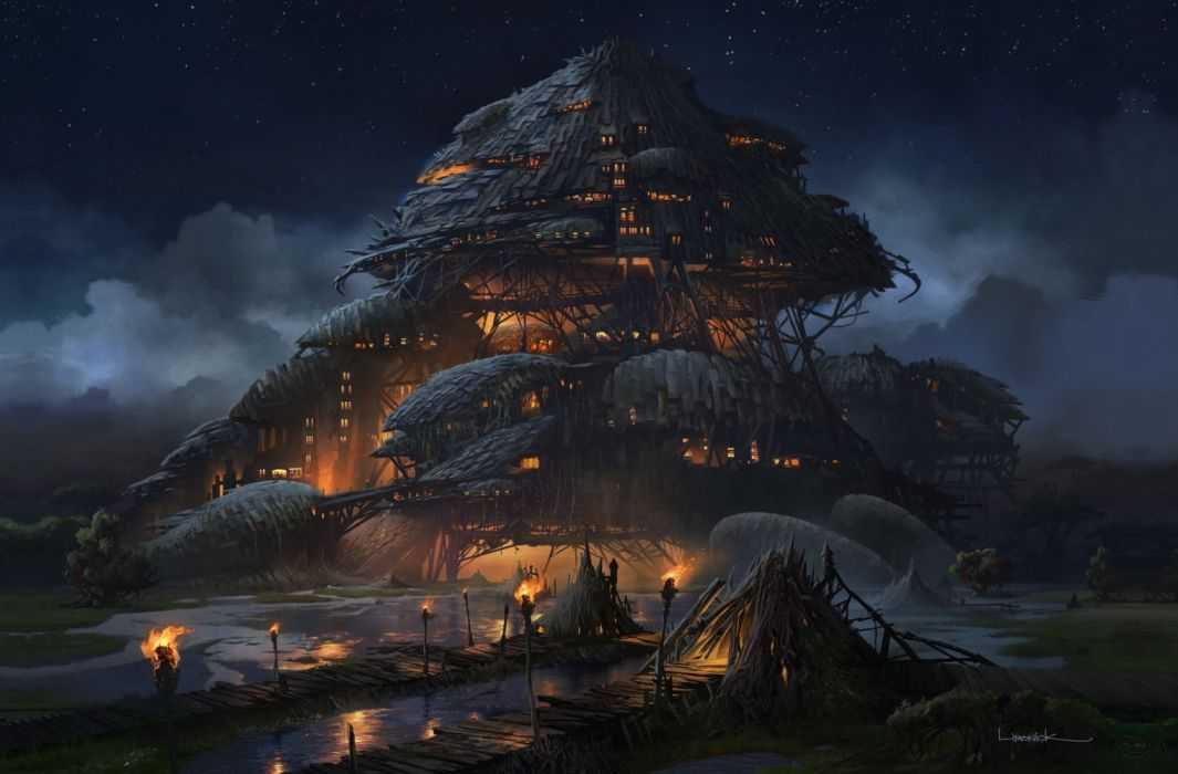 Home Road Sky Night Fire Fantasy Wallpaper 1920x1262 1159701 Wallpaperup