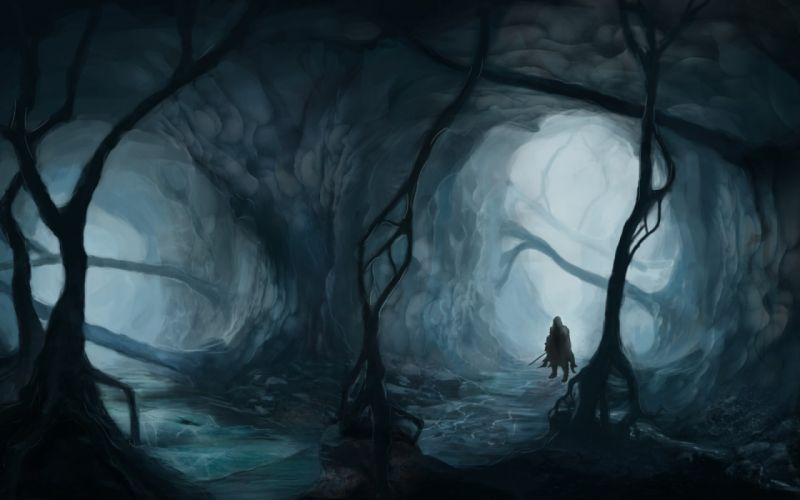 gothic forest military men drawings wallpaper