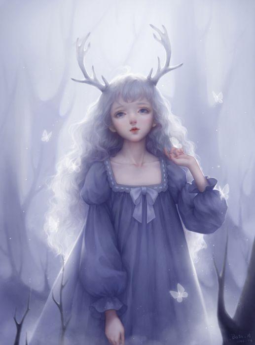 fantasy girl beauty dress long hair original beautiful wallpaper
