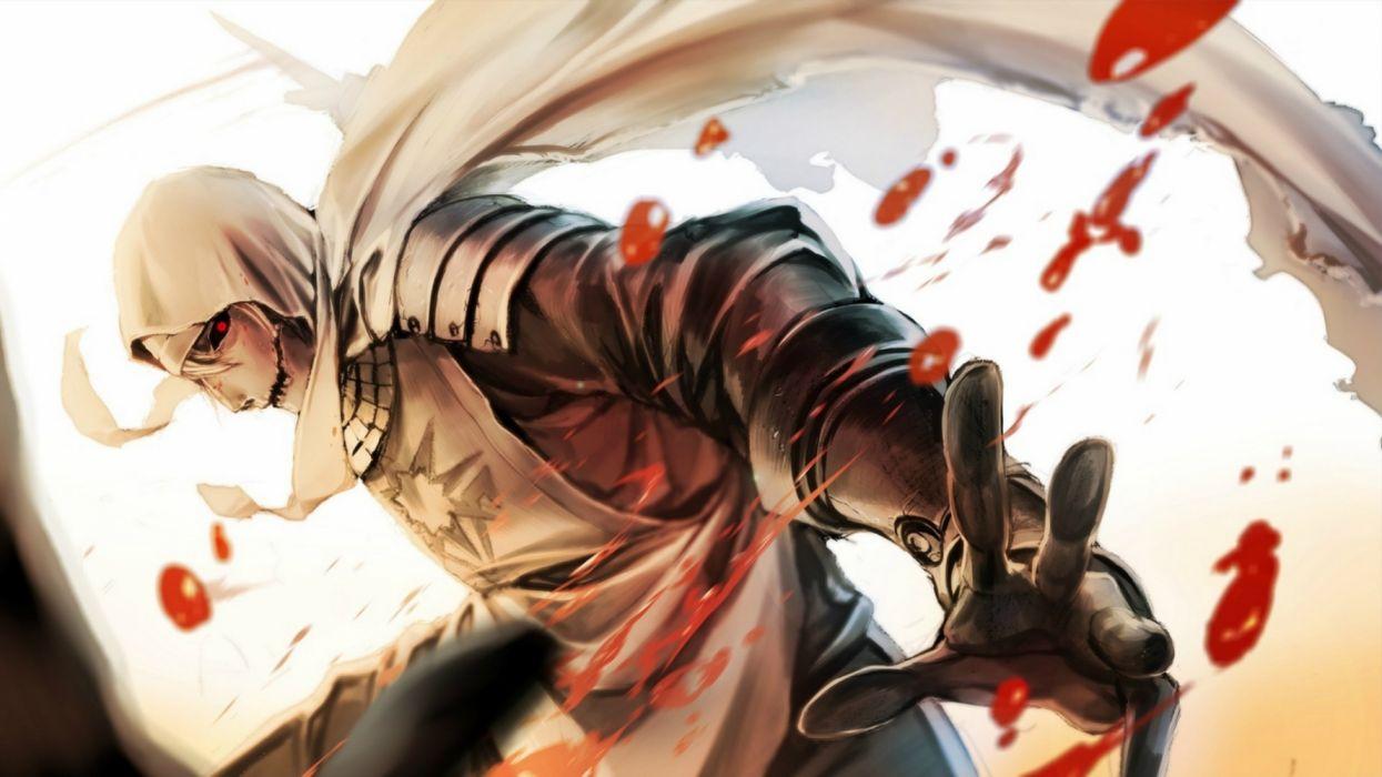 fantasy red eyes blood wallpaper