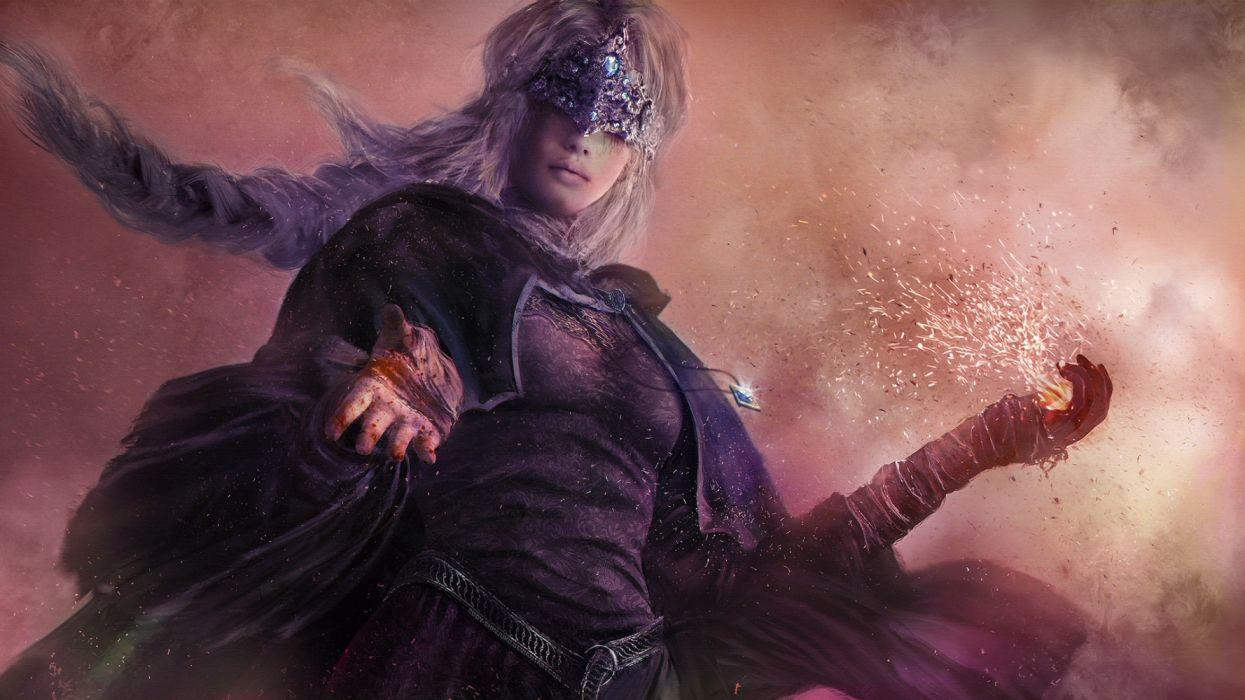 fantasy woman face beautiful warrior wallpaper