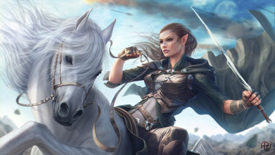 girls animals horses military sky objects drawings fantasy wallpaper