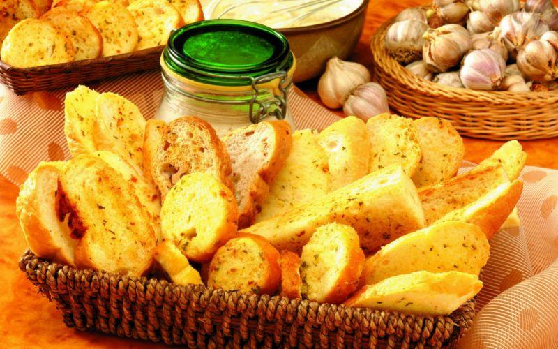 food bread garlic wallpaper