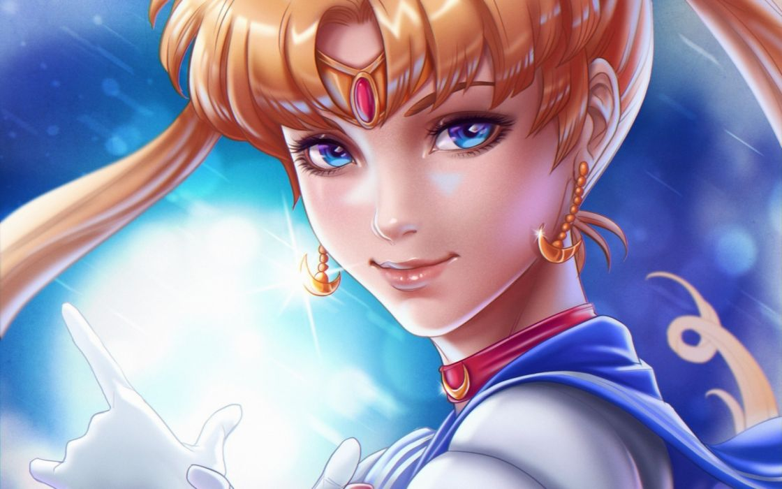 blue eyes bishoujo senshi sailor moon anime girl character beautiful wallpaper