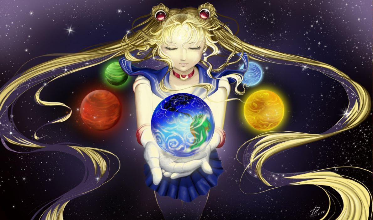 anime girls space fantasy sailormoon usagi wallpaper