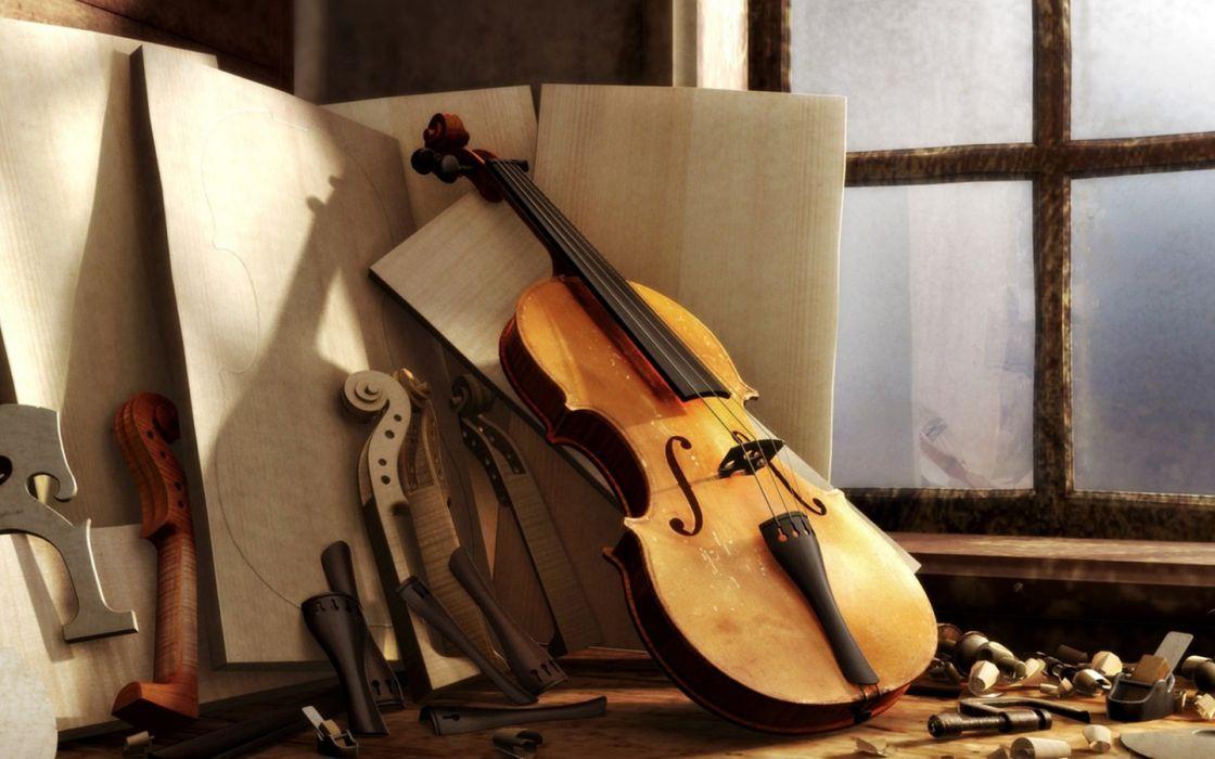 2d violin music instrument beauty wallpaper