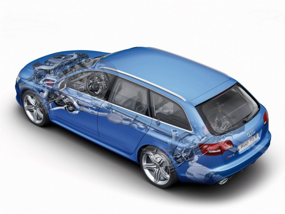 Audi RS6 Avant 4F-C6 2008 Cutaway wallpaper