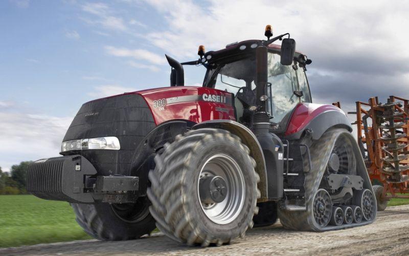 tractor rojo agricola vehiculo wallpaper