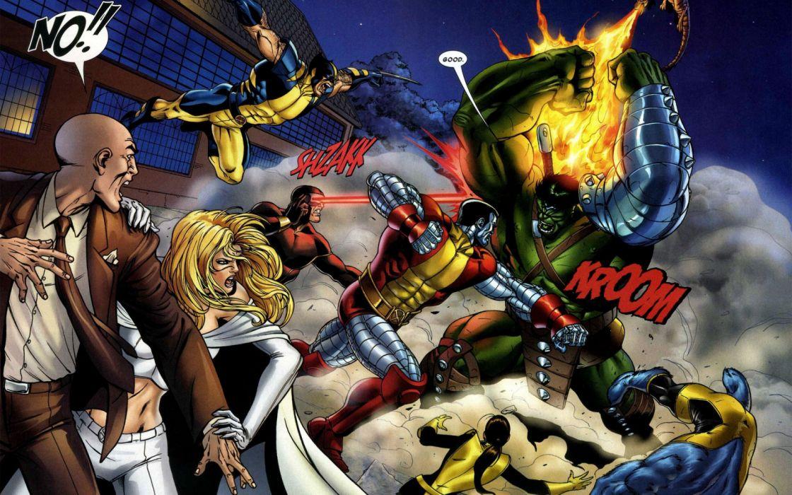 X men Vs The Hulk universe comics wallpaper