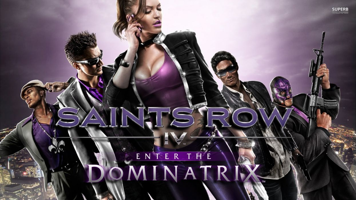 SAINTS ROW action adventure crime open world fighting video game strategy exploration wallpaper