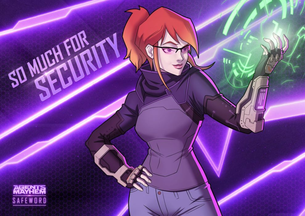 AGENTS OF MAYHEM action adventure crime open world fighting video game strategy tactical saints row warrior sci-fi futuristic technics cyberpunk wallpaper