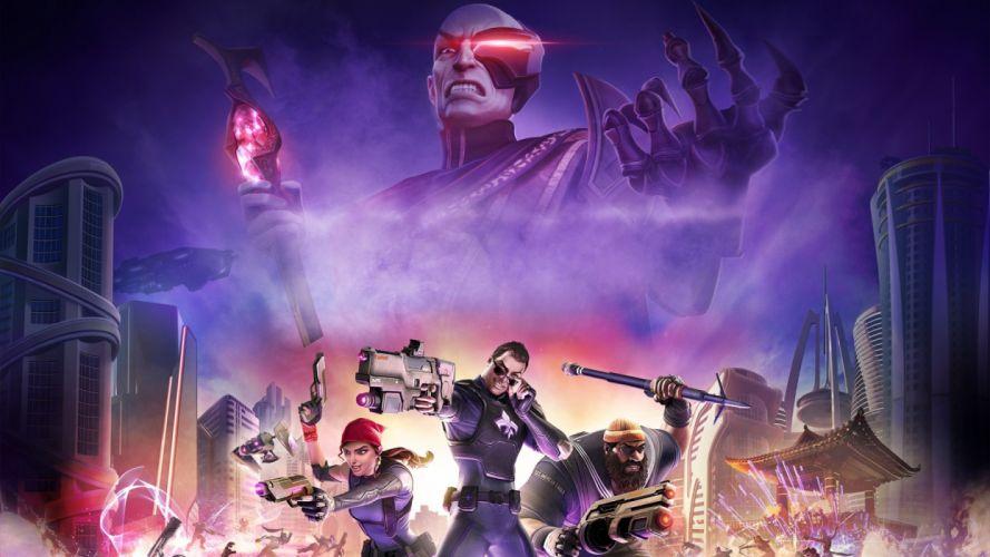 AGENTS OF MAYHEM action adventure crime open world fighting video game strategy tactical saints row warrior sci-fi futuristic technics cyberpunk wallpaper