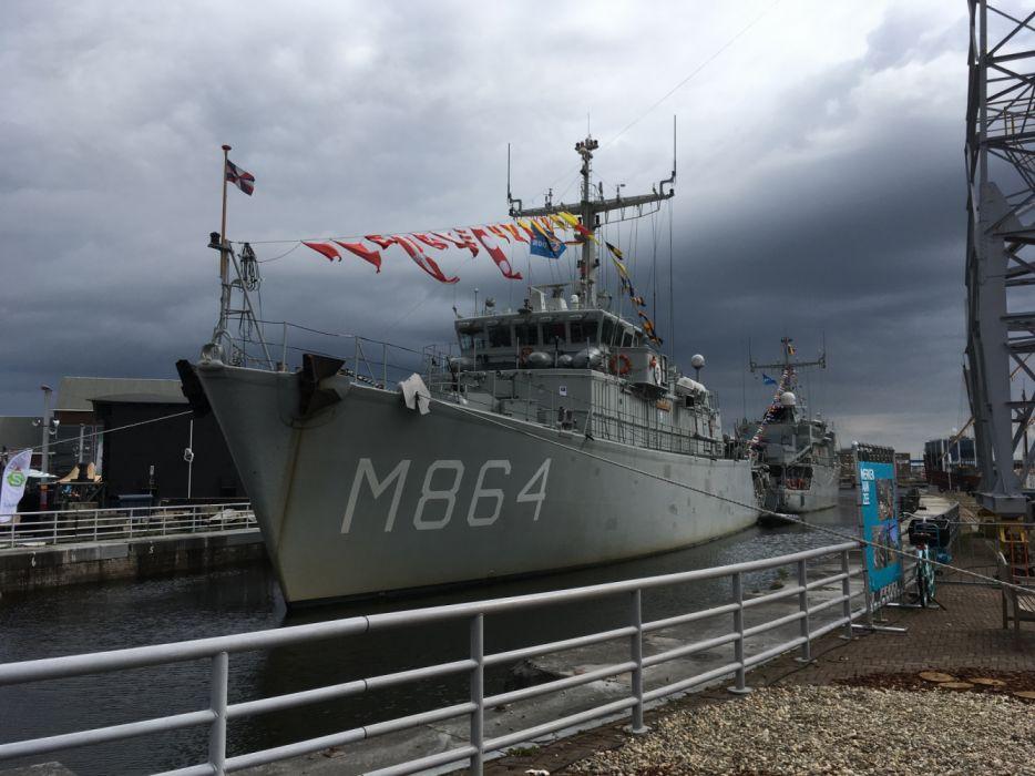 M864 Zr Ms Willemstad Minehunter Dutch Navy DenHelder 2017 wallpaper
