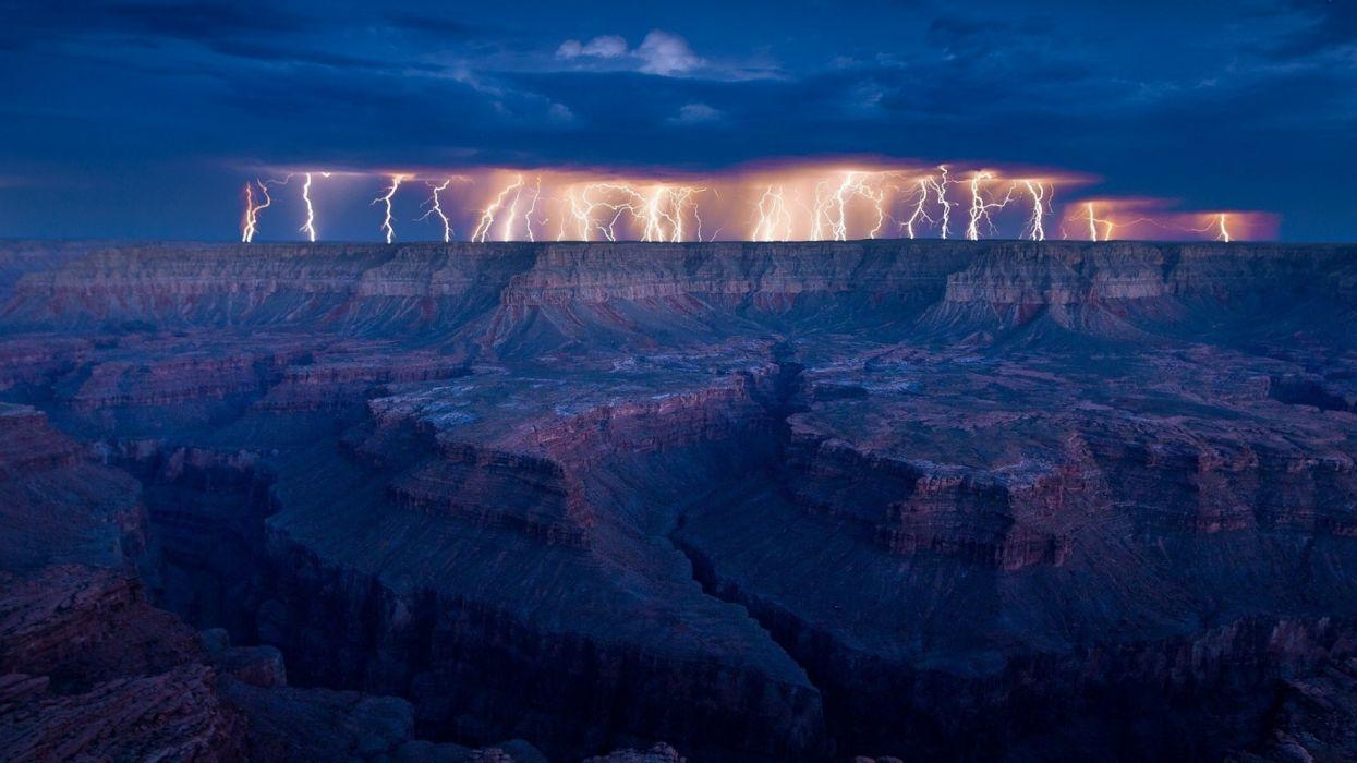 tormenta rayos relampagos gran cay wallpaper