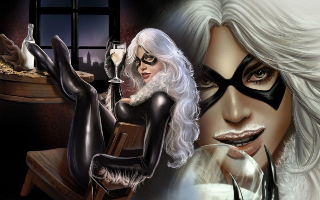 comic heroina rubia mascara wallpaper