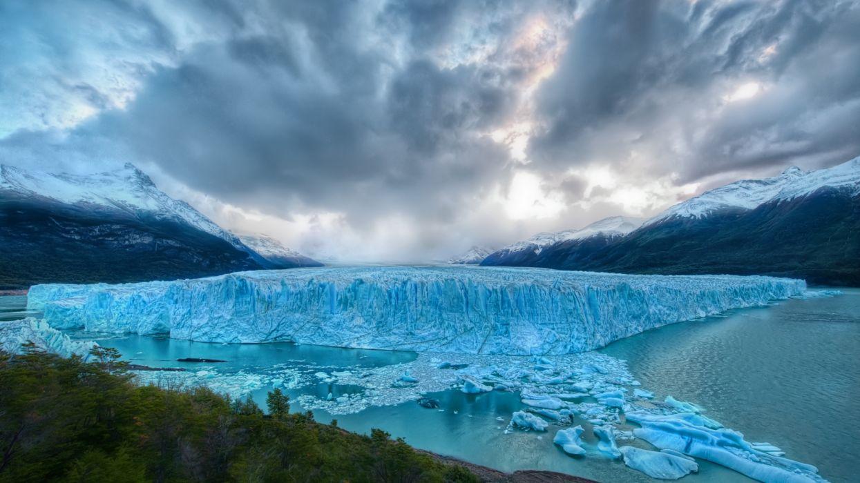 glaciar hielo naturaleza wallpaper