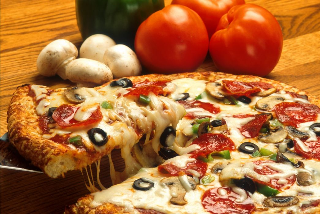 Supreme pizza tomates champiy wallpaper