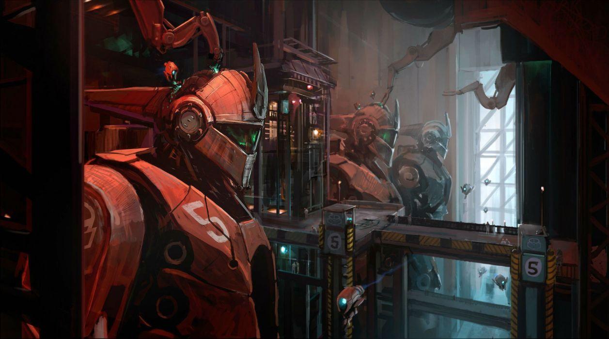 ATLAS REACTOR sci-fi futuristic technics PvP battle arena tactical action strategy warrior mmo wallpaper