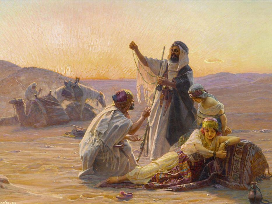 pintura arte arabes mercado wallpaper