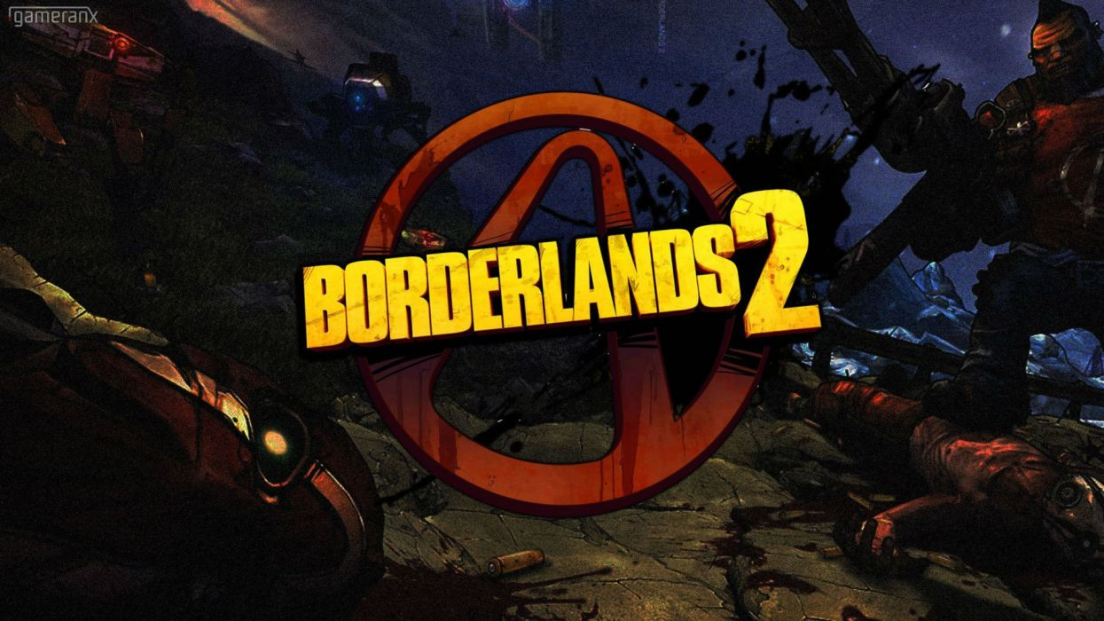 BORDERLANDS action fighting shooter adventure rpg fps sci-fi futuristic wallpaper