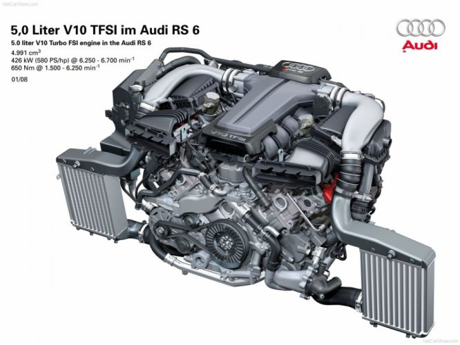 Audi RS6 Avant 4F-C6 2008 Engine wallpaper