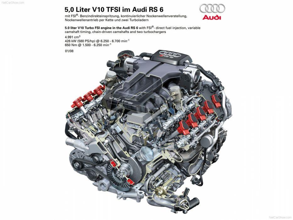 Audi RS6 Avant 4F-C6 2008 Engine Cutaway wallpaper