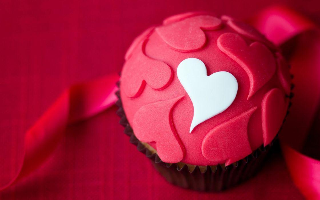 pastelito corazones rosa amor wallpaper