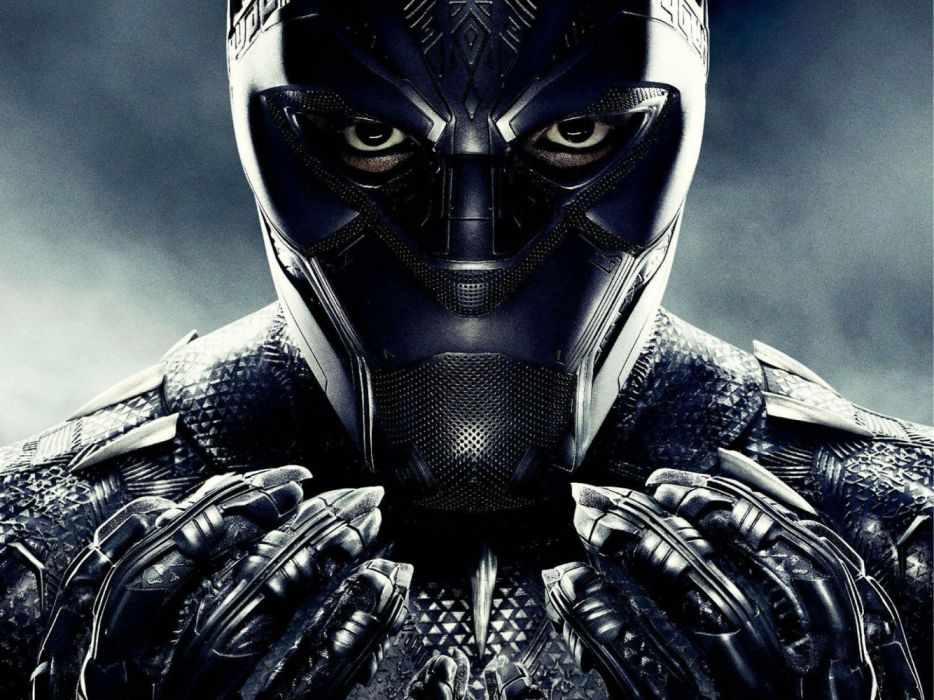 BLACK PANTHER sci-fi futuristic superhero action fighting marvel disney 1bpan comics wallpaper