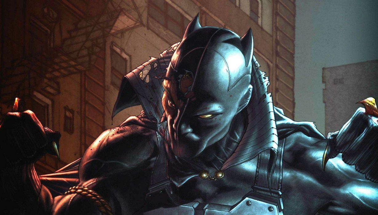 BLACK PANTHER sci-fi futuristic superhero action fighting marvel disney 1bpan comics wallpaper