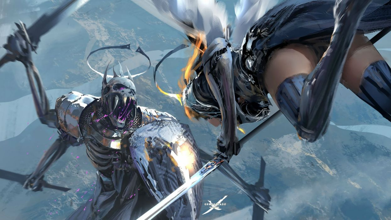 GHOSTBLADE anime fantasy comics adventure manga wlop perfect ghost blade wallpaper