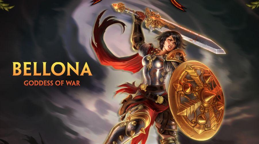 SMITE fantasy fighting mmo online battle arena action warrior wallpaper