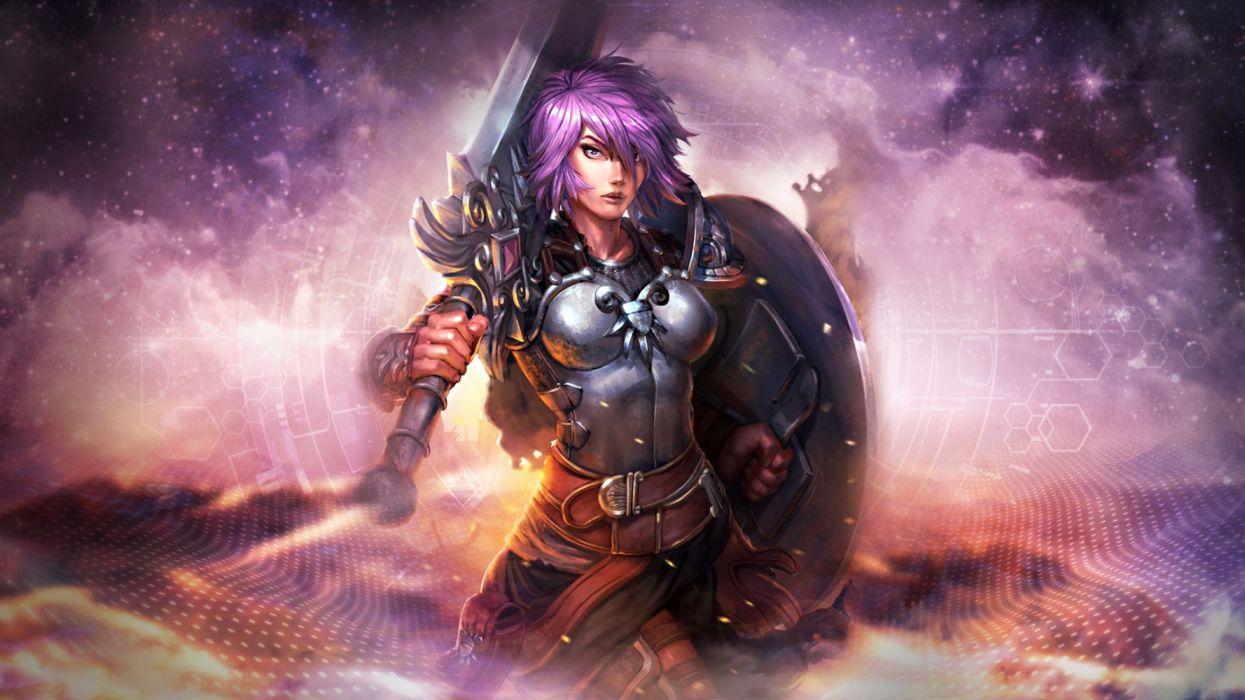SMITE fantasy fighting mmo online battle arena action warrior battle wallpaper