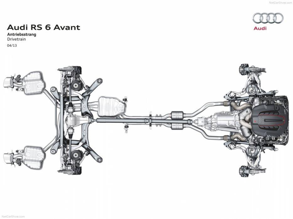 Audi RS6 Avant 4G-C7 MkI 2013 Powertrain wallpaper