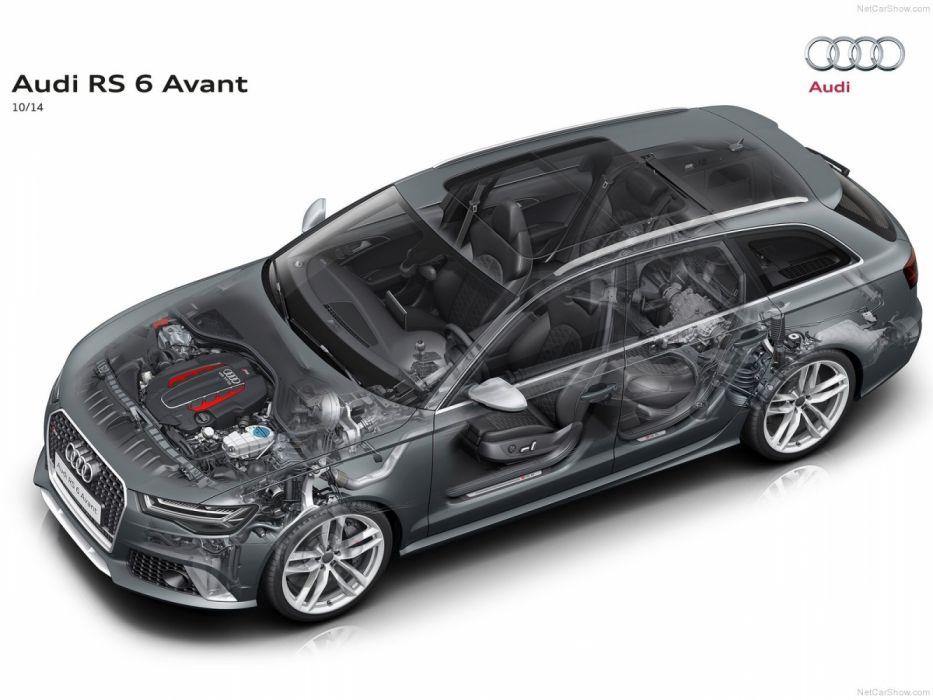 Audi RS6 Avant 4G-C7 MkI 2013 Cutaway wallpaper