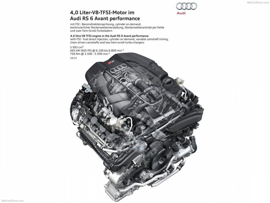 Audi RS6 Avant Performance 4G-C7 MkII 201 5 Engine Cutaway wallpaper