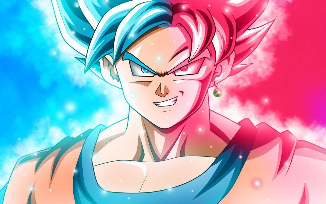 Goku Super Saiyan Blue x Super Saiyan God Download Art (1440x900) wallpaper